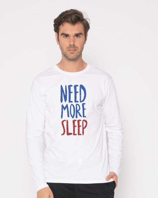 Shop Need Sleep Full Sleeve T-Shirt-Front