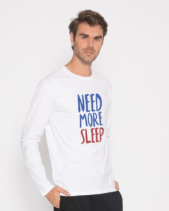 Shop Need Sleep Full Sleeve T-Shirt-Back