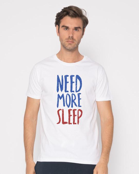 Shop Need Sleep Half Sleeve T-Shirt-Back