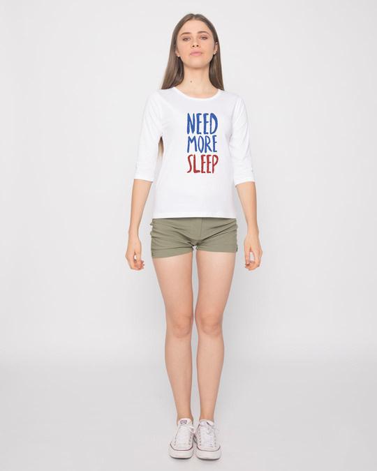 Shop Need Sleep Round Neck 3/4th Sleeve T-Shirt-Full