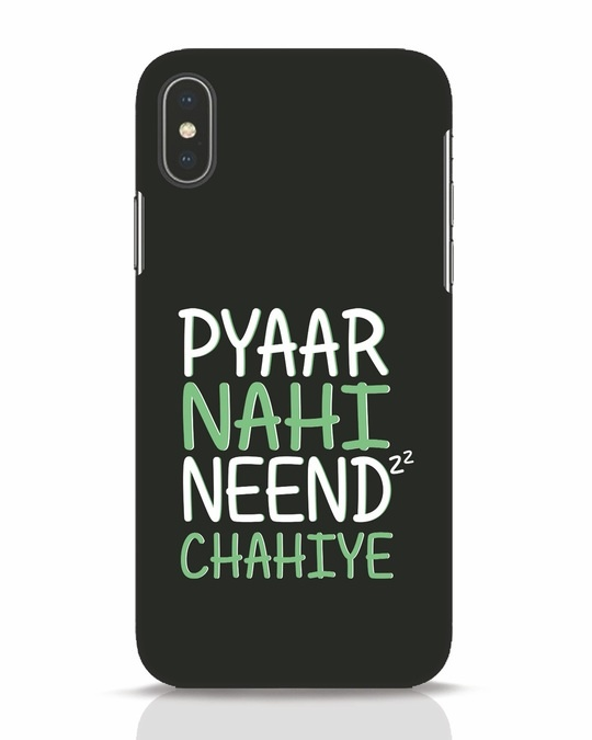 Shop Neend Chahiye iPhone X Mobile Cover-Front