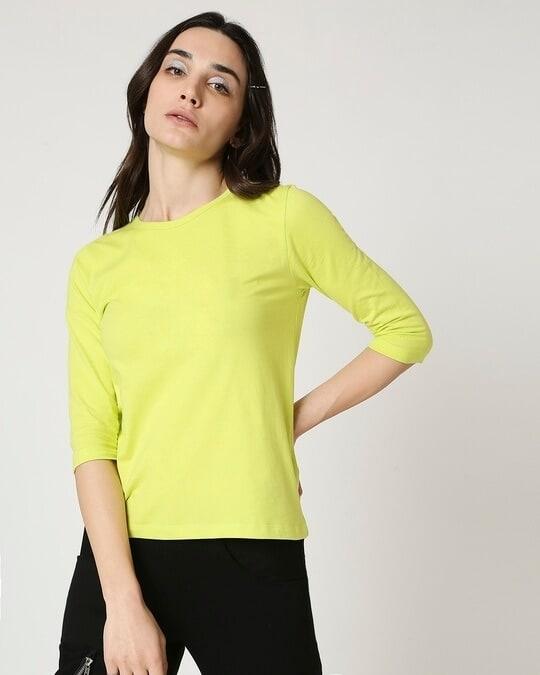 Shop Arcade Green 3/4 Sleeve T-Shirt-Back