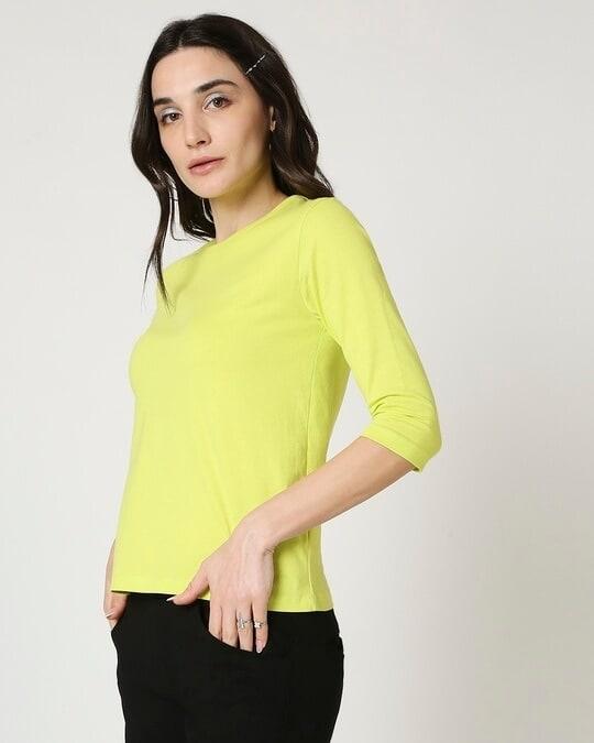 Shop Arcade Green 3/4 Sleeve T-Shirt-Design