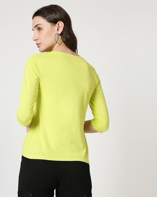 Shop Arcade Green 3/4 Sleeve T-Shirt-Full