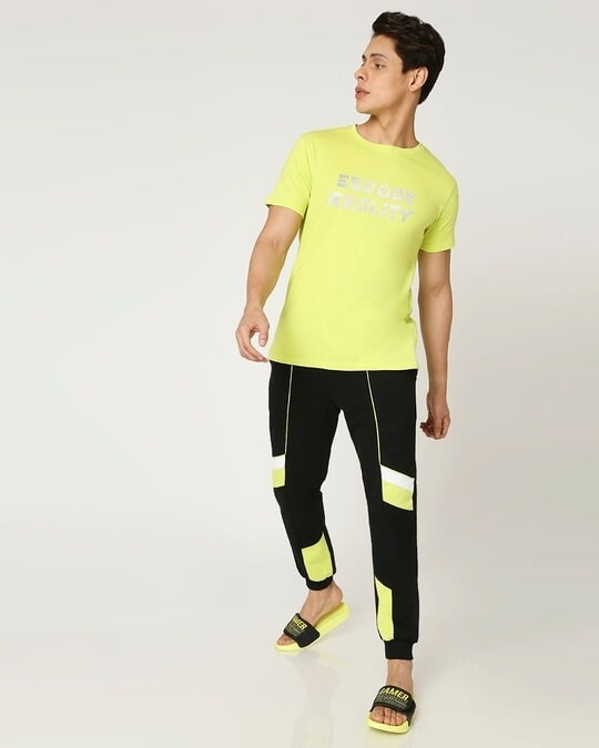 Shop Arcade Green Color Bloack Jogger-Full