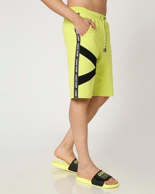 Shop Arcade Green Sports Trim Shorts-Back