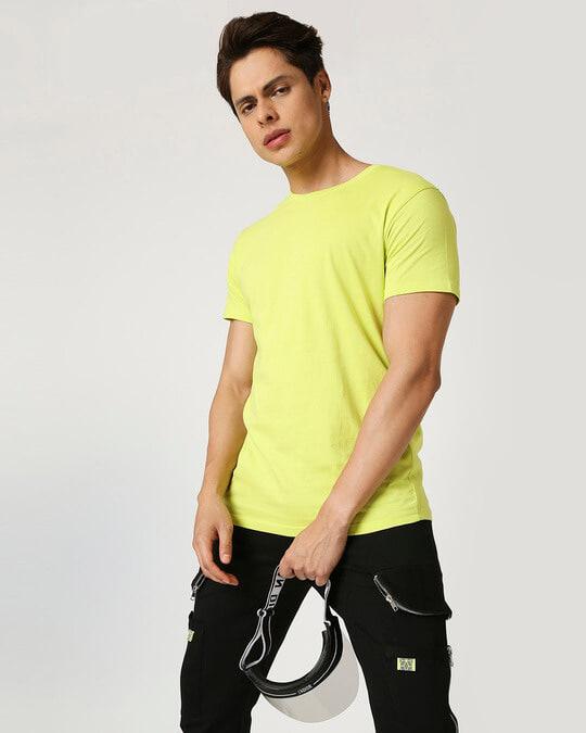 Shop Arcade Green Half Sleeve T-Shirt-Front