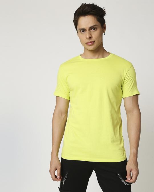 Shop Arcade Green Half Sleeve T-Shirt-Back