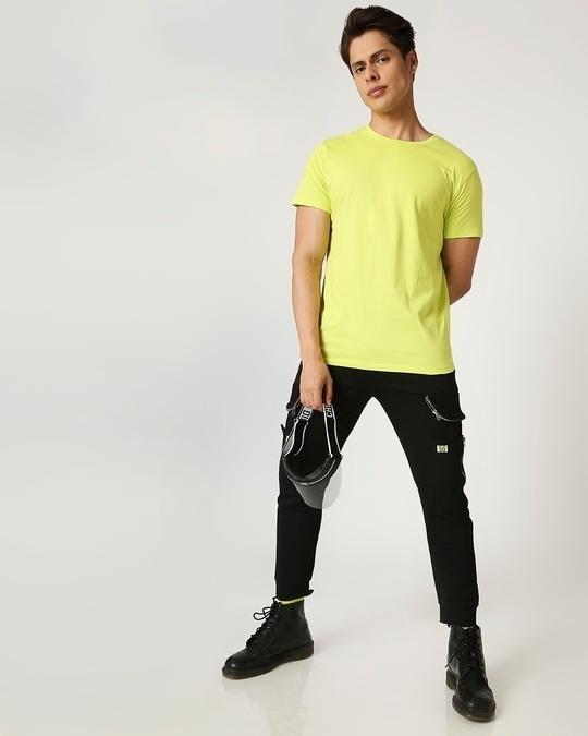 Shop Arcade Green Half Sleeve T-Shirt