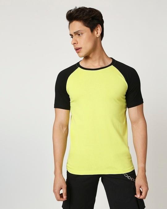 Shop Arcade Green Half Sleeve Raglan T -Shirt-Back