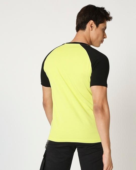 Shop Arcade Green Half Sleeve Raglan T -Shirt-Full