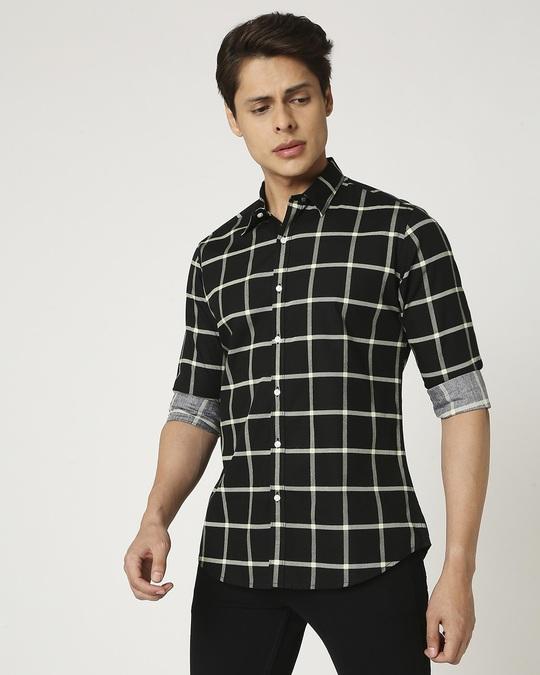 Shop Arcade Green Checks Casual Shirt-Design