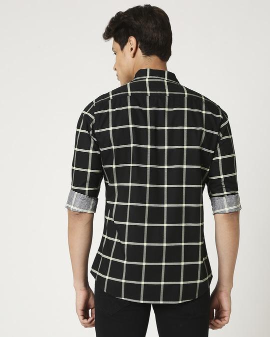 Shop Arcade Green Checks Casual Shirt-Full