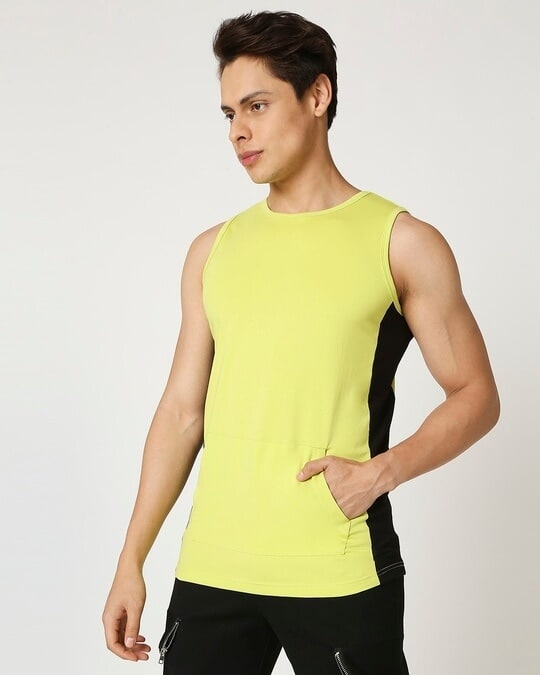 Shop Arcade Green Pocket Round Neck Vest-Design