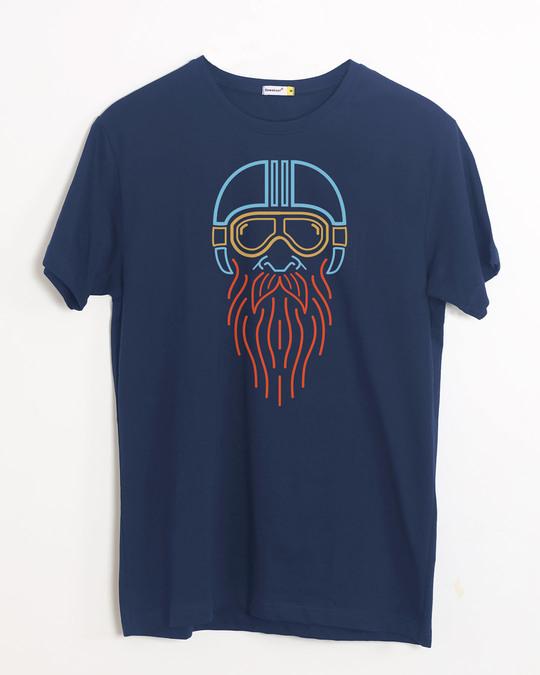 Shop Neon Biker Half Sleeve T-Shirt-Front
