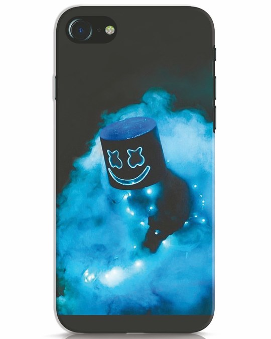 Shop Neon Blue Mellow iPhone 7 Mobile Cover-Front
