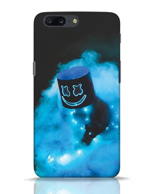 Shop Neon Blue Mellow OnePlus 5 Mobile Cover-Front