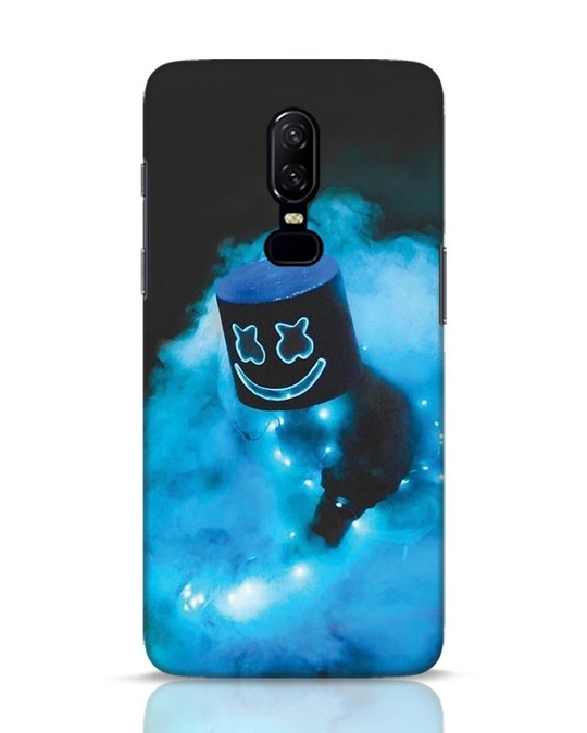 Shop Neon Blue Mellow OnePlus 6 Mobile Cover-Front
