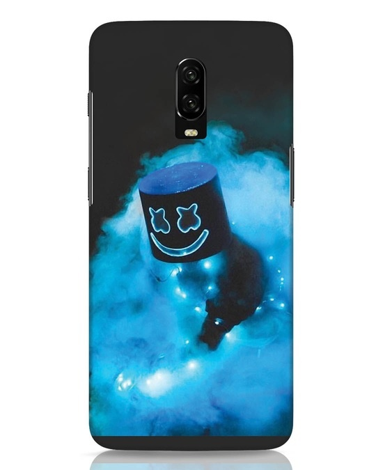 Shop Neon Blue Mellow OnePlus 6T Mobile Cover-Front