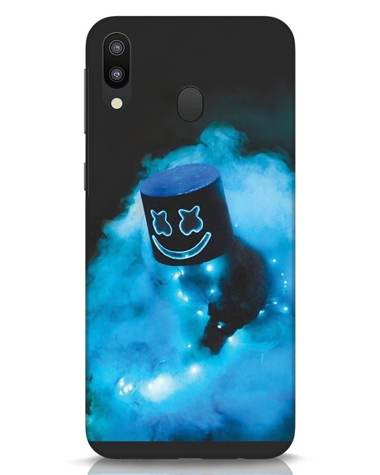 Shop Neon Blue Mellow Samsung Galaxy M20 Mobile Cover-Front