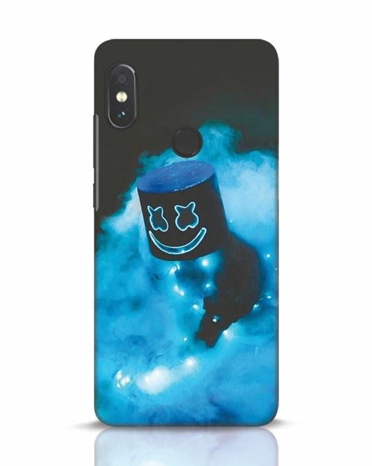 Shop Neon Blue Mellow Xiaomi Redmi Note 5 Pro Mobile Cover-Front