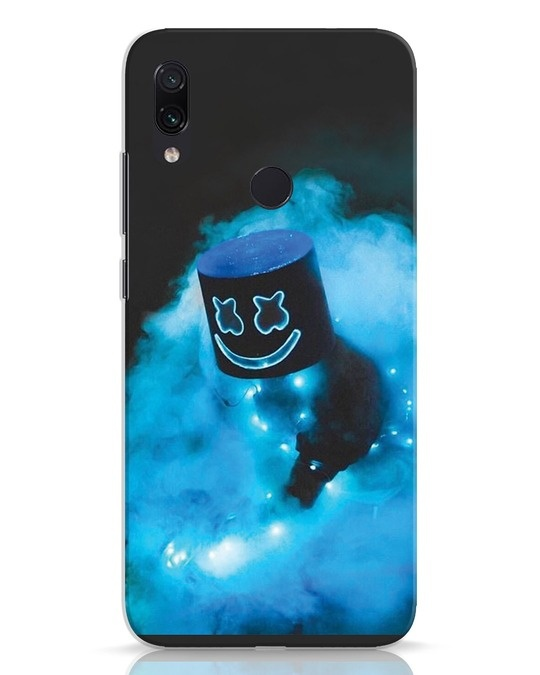 Shop Neon Blue Mellow Xiaomi Redmi Note 7 Mobile Cover-Front