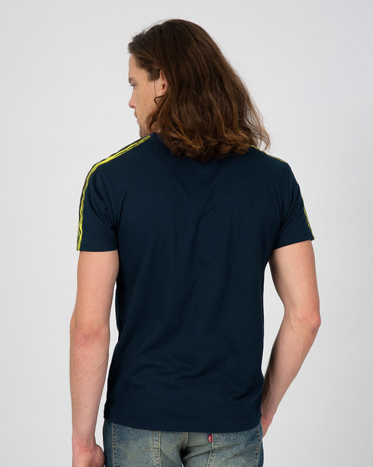 Shop Neon Brush Stripe Sports Trim T-Shirt
