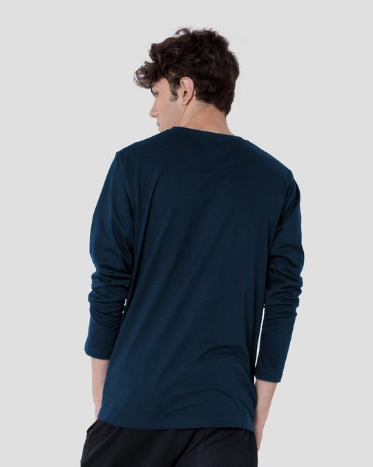 Shop Neon Chill Vibes Full Sleeve T-Shirt Navy Blue-Design