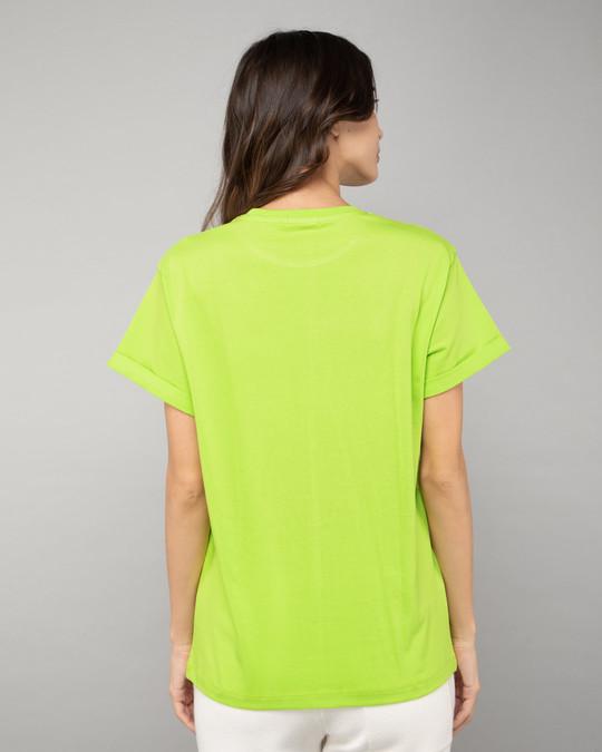 Shop Neon Green Boyfriend T-Shirt-Full