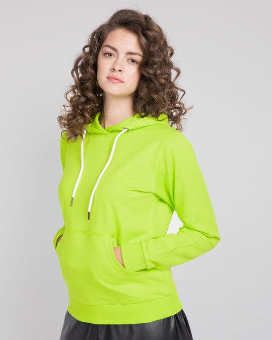 Shop Neon Green Fleece Hoodies-Back