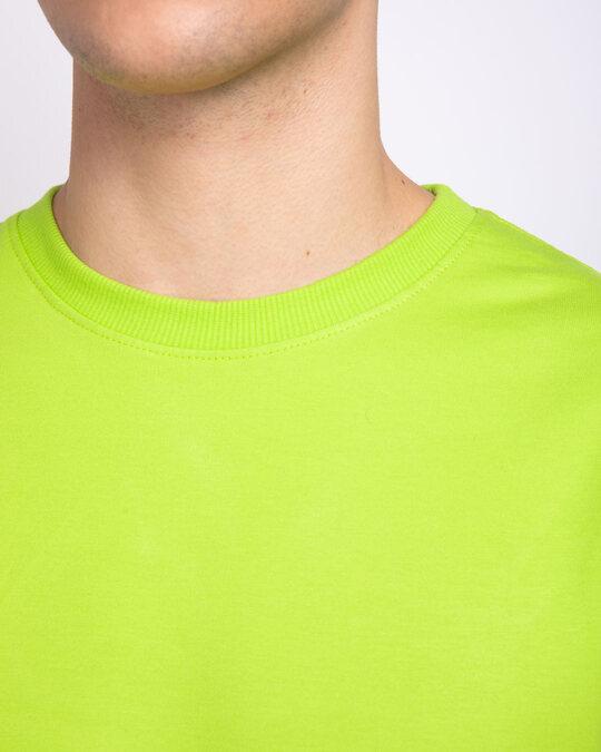 Shop Neon Green Fleece Light Sweatshirt