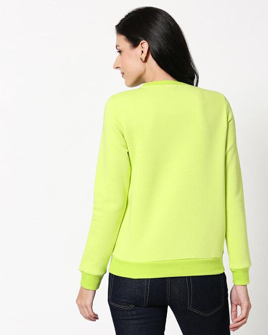 Shop Neon Green Fleece Sweater-Full