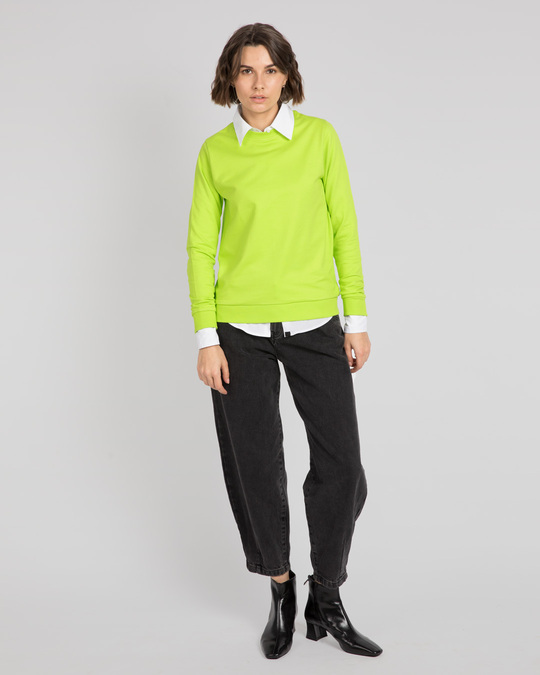Shop Neon Green Fleece Light Sweatshirt-Full
