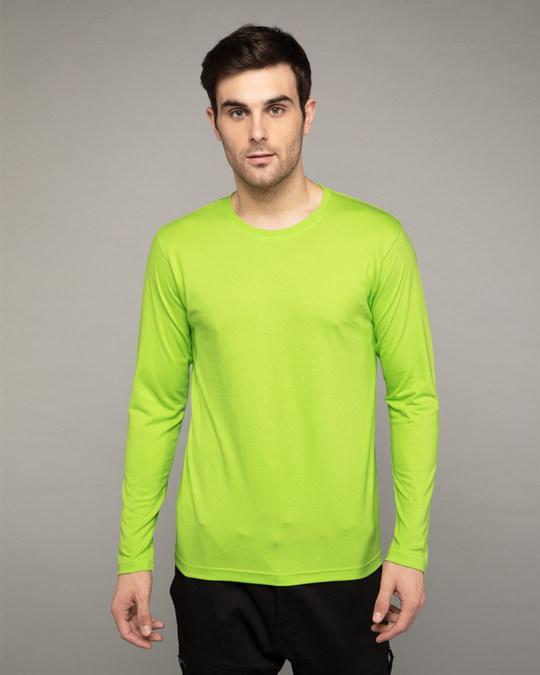 Shop Neon Green Full Sleeve T-Shirt-Front