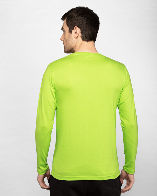 Shop Neon Green Full Sleeve T-Shirt-Design