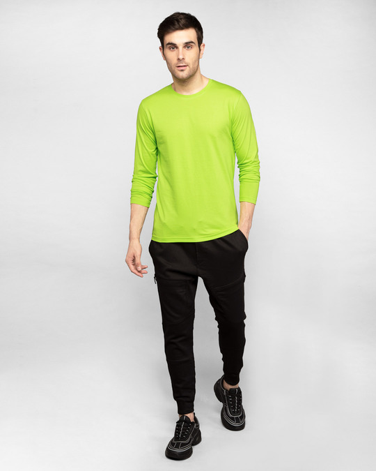 Shop Neon Green Full Sleeve T-Shirt-Full