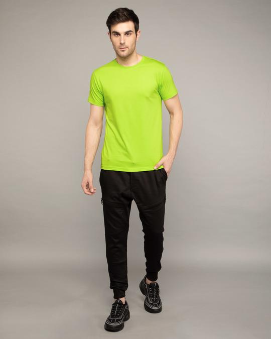 Shop Neon Green Half Sleeve T-Shirt-Full