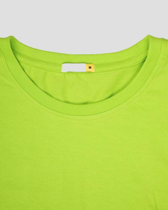 Shop Neon Green Half Sleeve T-Shirt