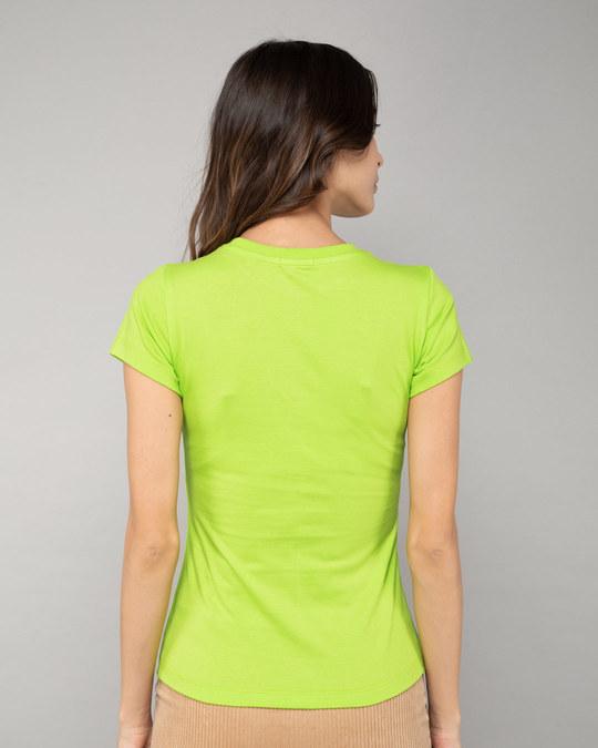 Shop Neon Green Half Sleeve T-shirt-Design