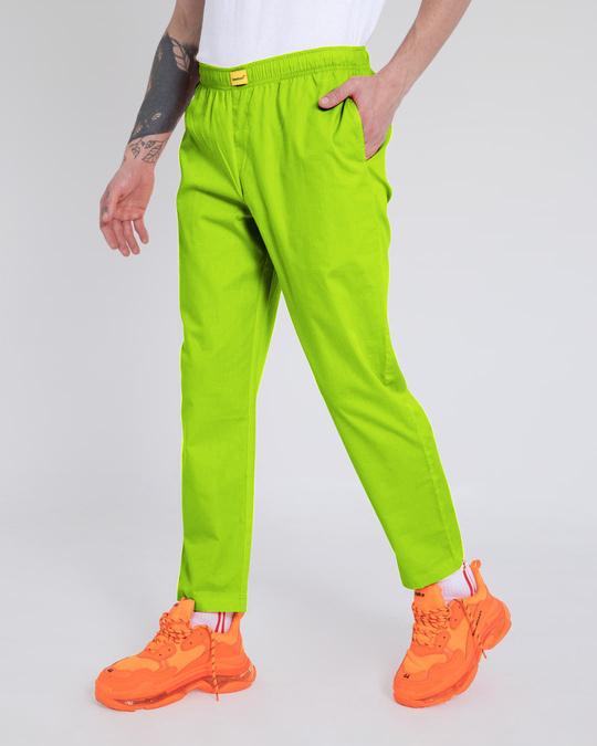 Shop Neon Green Pyjama-Back