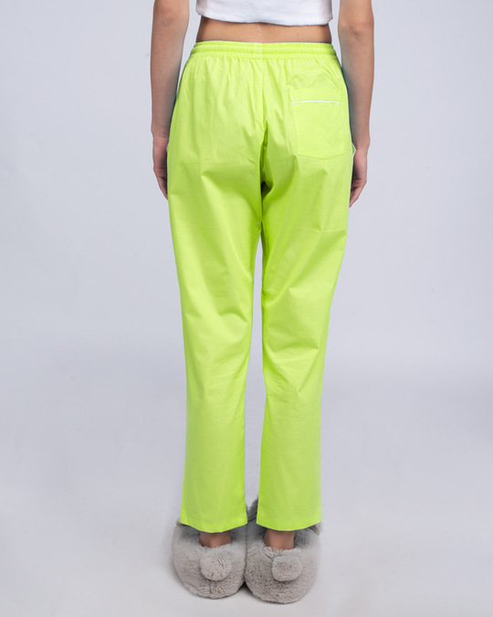 Shop Neon Green Pyjama-Back