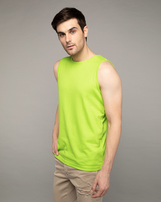 Shop Neon Green Vest-Back
