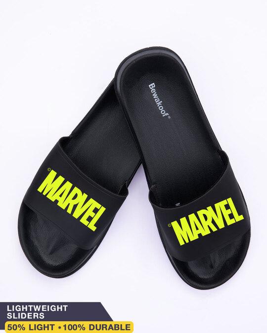 Shop Neon Marvel (AVL) Lightweight Women's Slider Black-Front