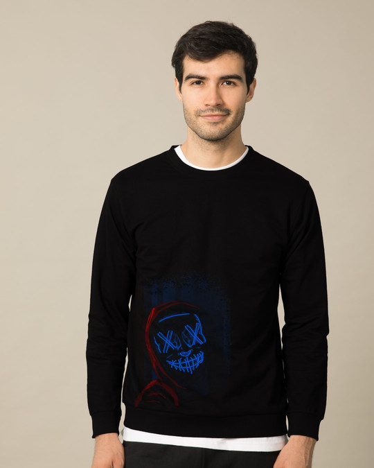 Shop Neon Mask Fleece Light Sweatshirt-Front