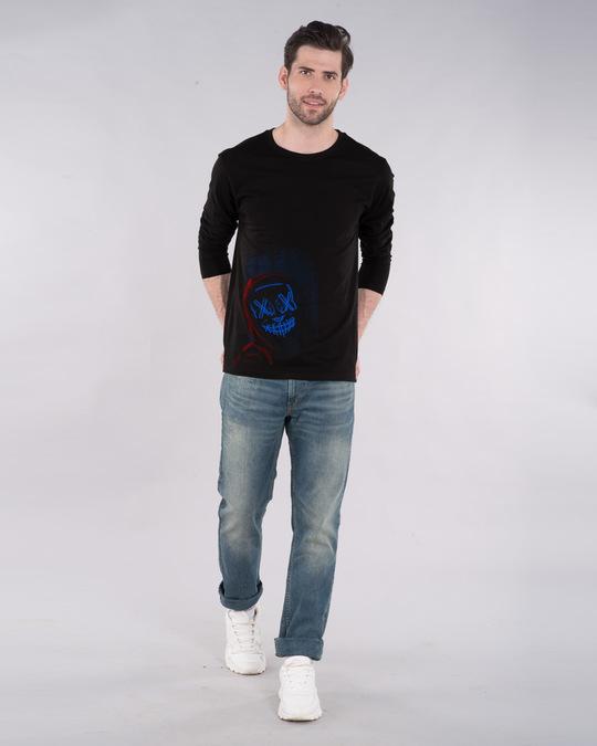 Shop Neon Mask Full Sleeve T-Shirt-Design