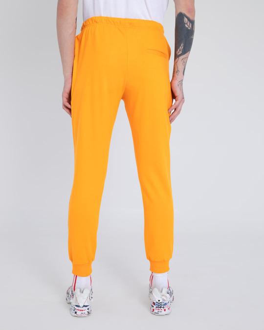 Shop Neon Orange Casual Jogger Pants-Design
