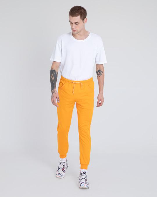 Shop Neon Orange Casual Jogger Pants-Full