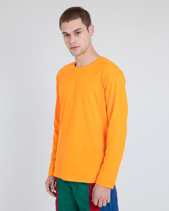 Shop Neon Orange Full Sleeve T-Shirt-Back