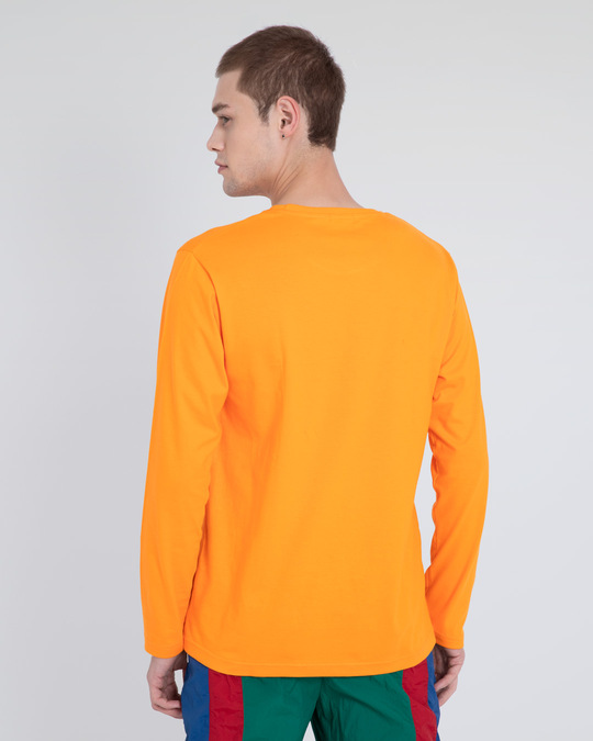 Shop Neon Orange Full Sleeve T-Shirt-Full