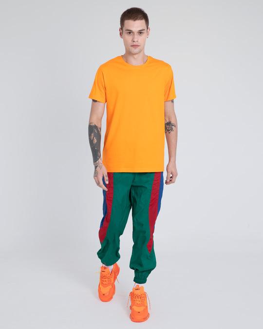 Shop Neon Orange Half Sleeve T-Shirt-Full